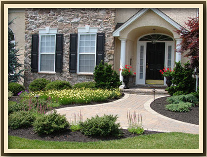 beautiful home in delaware with landscaped front yard and walkway