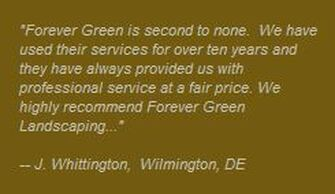 wilmington delware landscaping testimonial from mr whittington